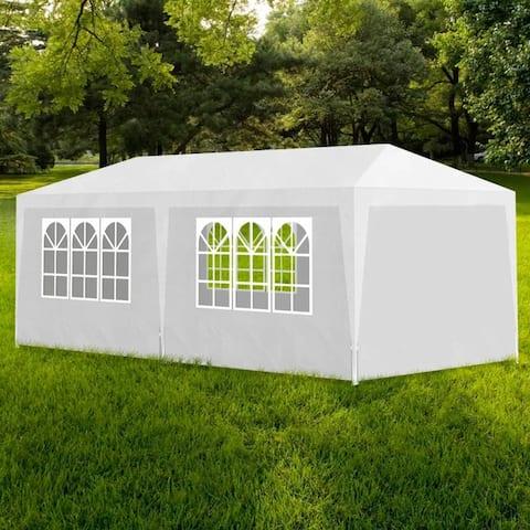 vidaXL Party Tent w/ 6 Walls 10'x20' White Garden Patio Canopy Gazebo Pavilion