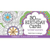 Coloring Cafe Mini Birthday Coloring Cards 30/Pkg-