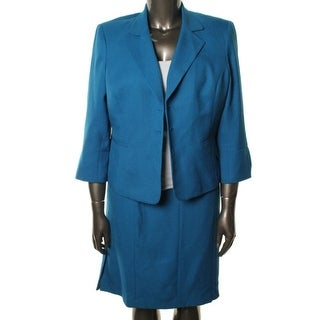 Evan Picone Womens City Chic Woven 3/4 Sleeves Skirt Suit - 6