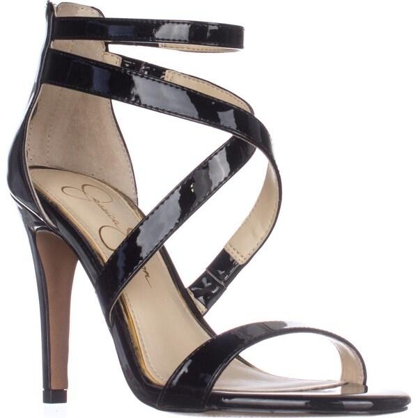 Jessica Simpson Ellenie Heeled Sandals, Black Patent