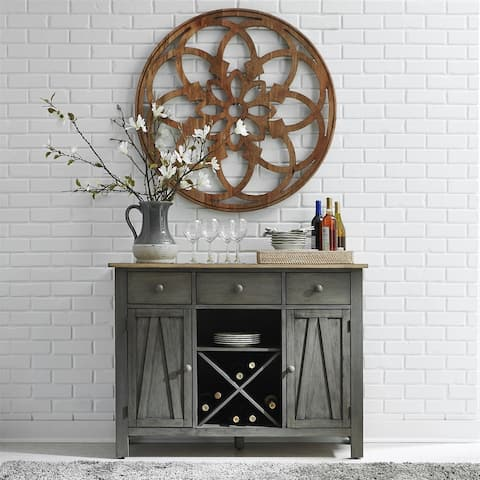 Lindsey Farm Grey and Sandstone 3-drawer Server