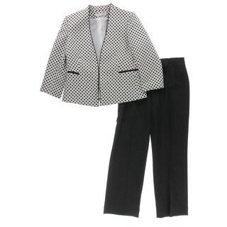 Tahari ASL Womens Petites Pant Suit Polka Dot 2PC - 10P
