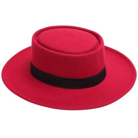 Mad Style Red Felt Flamenco Hat