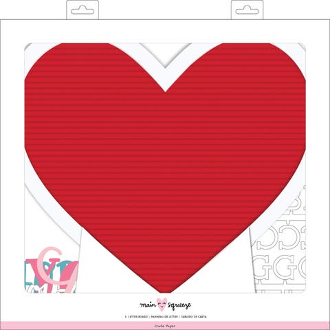 """American Crafts Framed Letterboard 12""""X12""""-Heart"""
