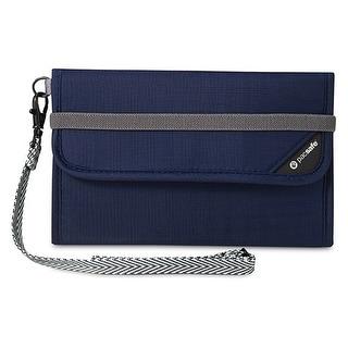Pacsafe RFIDsafe V250-Navy Blue RFID Blocking Travel Wallet