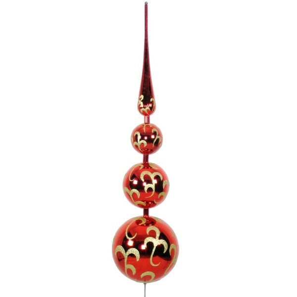 Christmas at Winterland WL-TOPPER-70-RE/GO 5.5 Foot Finial Tree Topper - MultiColor - N/A