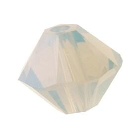 Swarovski Crystal, 5328 Bicone Beads 3mm, 25 Pieces, Light Grey Opal