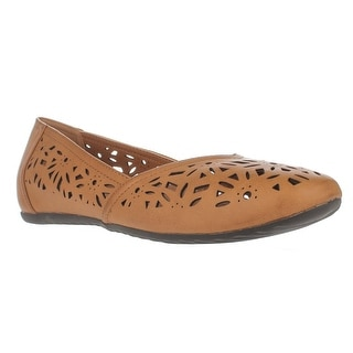 Easy Street Charlize Cutout Ballet Flats, Camel