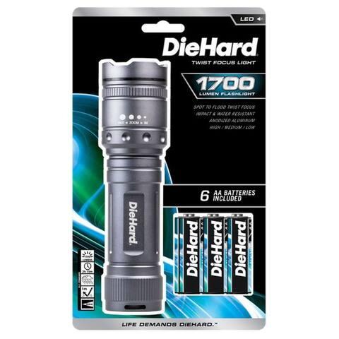 Dorcy DieHard 1700 lumens Gray LED Flashlight AA Battery