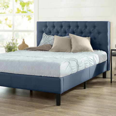 Priage by ZINUS Upholstered Button-tufted Platform Bed Frame