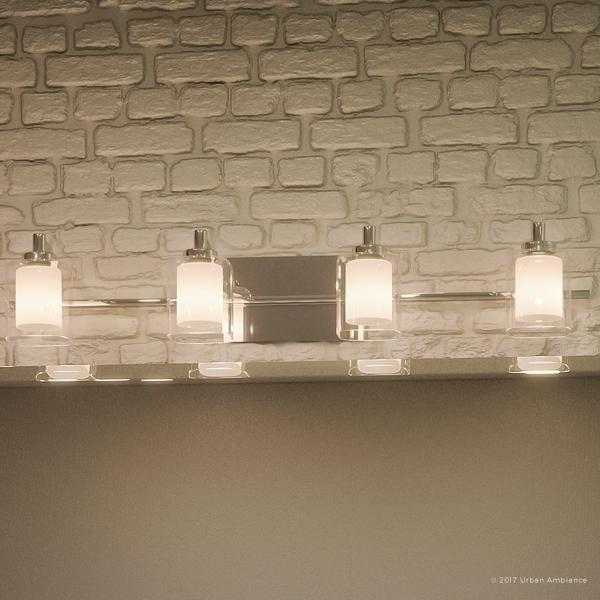 Shop Luxury Modern Bathroom Vanity Light H X W With Posh - Bathroom vanity lights chrome finish