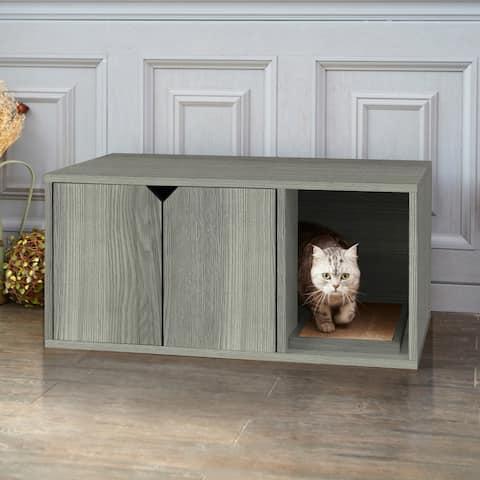 Way Basics Eco Stackable Cat Litter Box, Grey