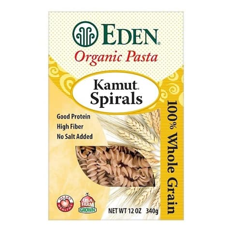 Eden Foods Organic Whole Kamut Spirals - Case of 6 - 12 oz.