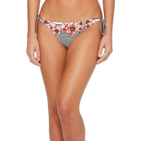 Vince Camuto Black Womens Size Small S Stripe Bikini Bottom Swimwear