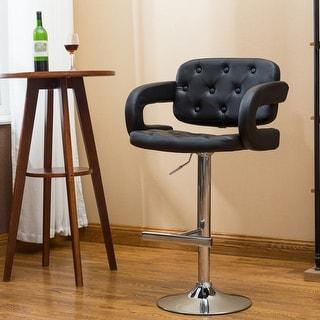 Porch & Den Coal Creek Modern Upholstered Adjustable Bar Stool