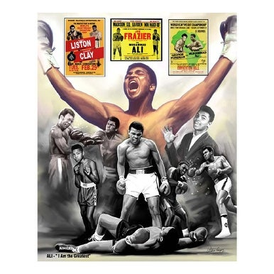 ''Ali: I Am the Greatest'' by Wishum Gregory African American Art Print (11 x 8.5 in.)