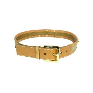 MICHAEL Michael Kors Women's Studded Canvas Leather Belt - S