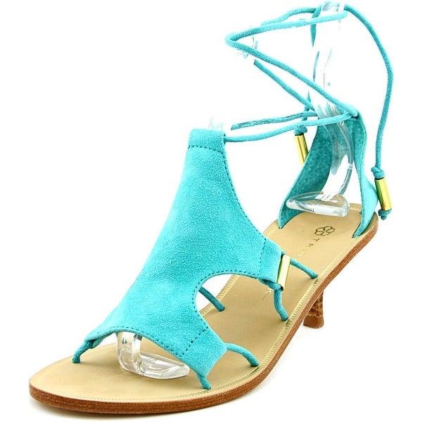 Trina Turk Evelyn Women Open Toe Suede Blue Sandals