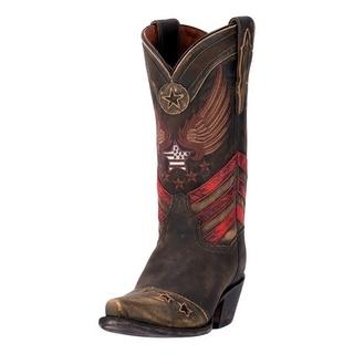 "Dan Post Western Boot Women 12"" N'Dependence Orthotic Brown DP3676"