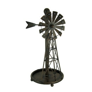 Link to Rustic Distressed Metal Art Windmill Paper Towel Holder Kitchen Table Decor Similar Items in Kitchen Storage