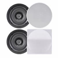 6.5 in. In-Wall or In-Ceiling Dual Stereo Flush Mount Speakers - 2