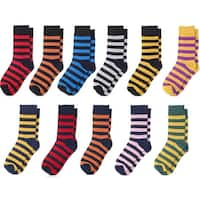 Jacob Alexander College Stripe Cotton Dress Socks