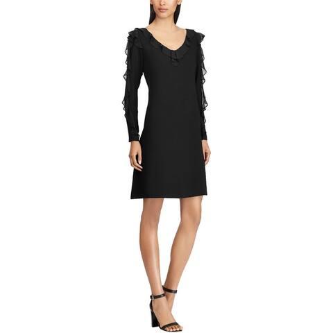 American Living Womens Georgette A-Line Dress