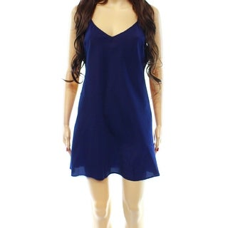 Designer NEW Navy Blue Women's Size Medium M Babydoll Dress Sleepwear