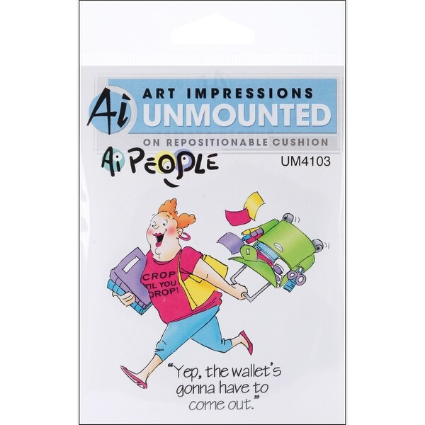 """Art Impressions People Cling Rubber Stamp 4""""X6""""-Cropper Set"""