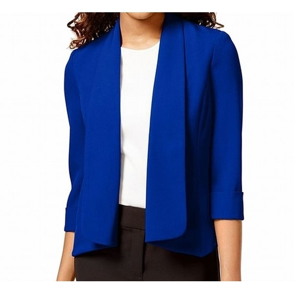 920c3efe Shop Kasper NEW Blue Women's Size 8 Open-Front Shawl-Collar Career Jacket -  Free Shipping On Orders Over $45 - Overstock - 21854387