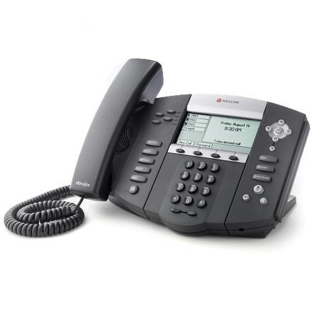 Refurbished Polycom SoundPoint IP 550 Corded Voice Over IP Phone (2200-12550-025)