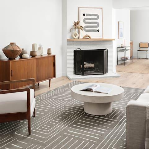 Alexander Home Reverie Geometric Contemporary Area Rug
