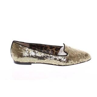 Dolce & Gabbana Gold Sequined Ballerinas Ballet Flats Shoes - 39