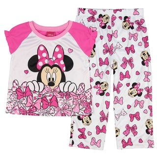 Disney Minnie Mouse Little Girls' Toddler A Lot Of Bows 2 Piece Pajama Set