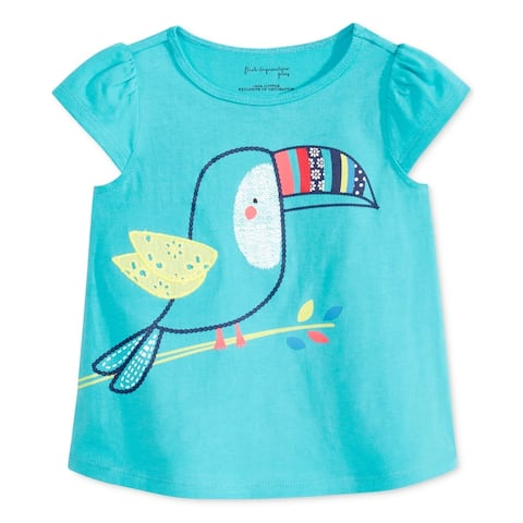 First Impressions Girls Embroidered Bird Graphic T-Shirt