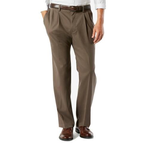 Dockers Mens Pants Brown Size 52X32 Big & Tall Khaki Classic Stretch