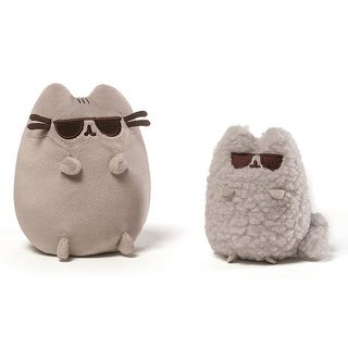 "Pusheen and Stormy 8.5"" Plush Collector Set: Sunglasses"