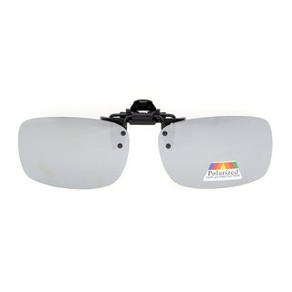 Eyekepper Flip-up Clip-on Sunglasses Polarized 59x39 MM 3-Pack Metal Glasses Clip Silver Mirror