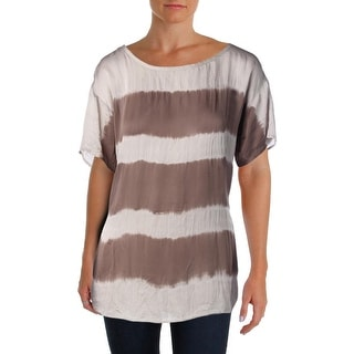 The Fisher Project Womens Silk Striped Pullover Top