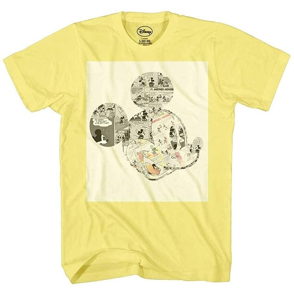0cd8088f5 Shop Disney Mickey Mouse Shirt Men's Comic Strips Graphic Tee Classic  Vintage - Free Shipping On Orders Over $45 - Overstock - 22834162