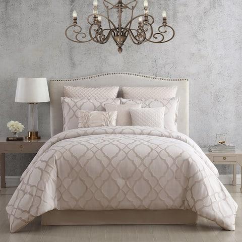 Riverbrook Home Tinley White & Silver 10 Piece Comforter Set