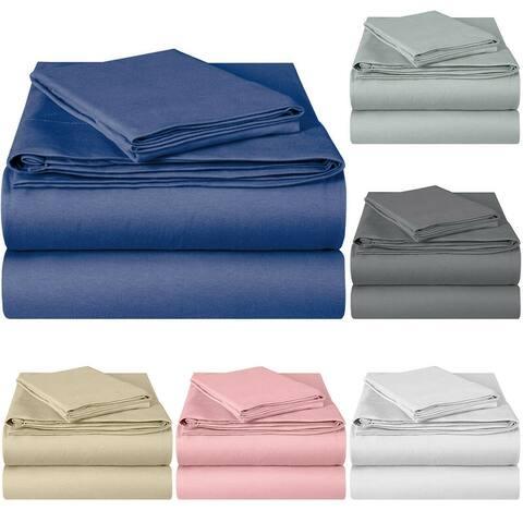 EnvioHome Hotel Quality Pure Cotton Deep Pocket Jersey Knit Sheets Set