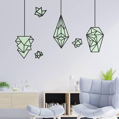 Walplus Glow in Dark Geometric Lamps Wall Sticker Modern Home Decor
