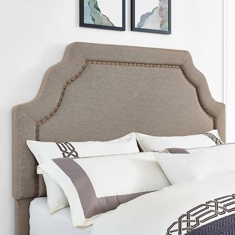 Loren Keystone Upholstered King/Cal King Headboard in Oatmeal Linen
