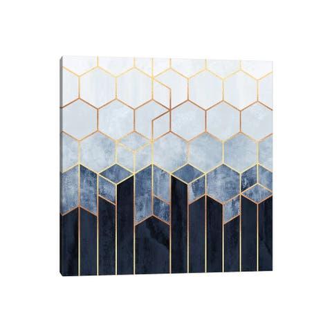 "iCanvas ""Soft Blue Hexagons"" by Elisabeth Fredriksson Canvas Print"