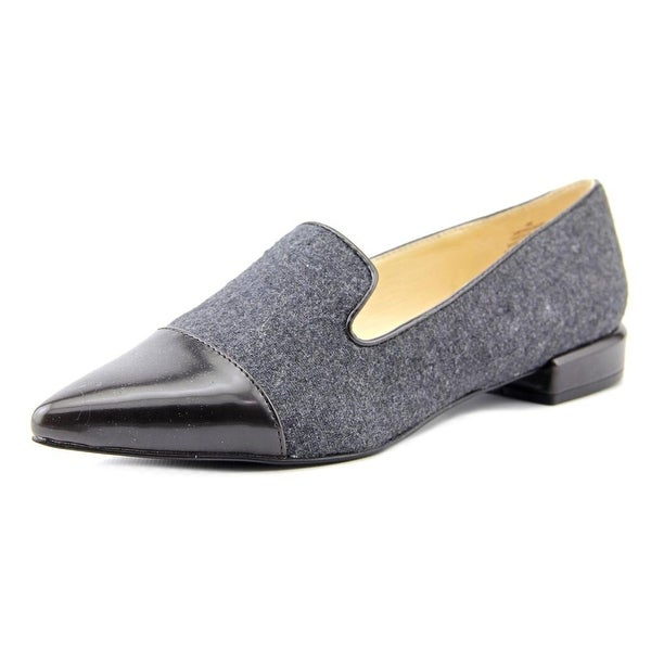 Nine West Trainer Women Pointed Toe Canvas Gray Loafer