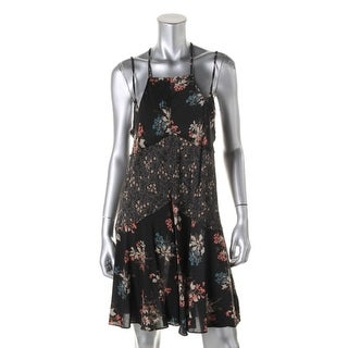 Free People Womens Slip Dress Printed Shift