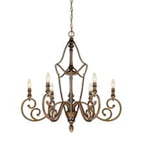 Designers Fountain 85686 Isla 6 Light 1 Tier Candle Style Chandelier - Aged Brass