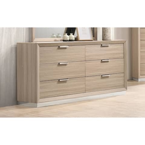 Talmadge Rustic Beige 6-drawer Dresser