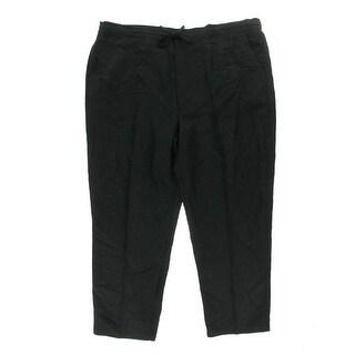 Cubavera Mens Big & Tall Linen Relaxed Casual Pants